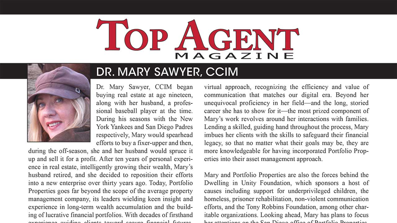 Top Agent Magazine – Dr. Mary Sawyer, CCIM